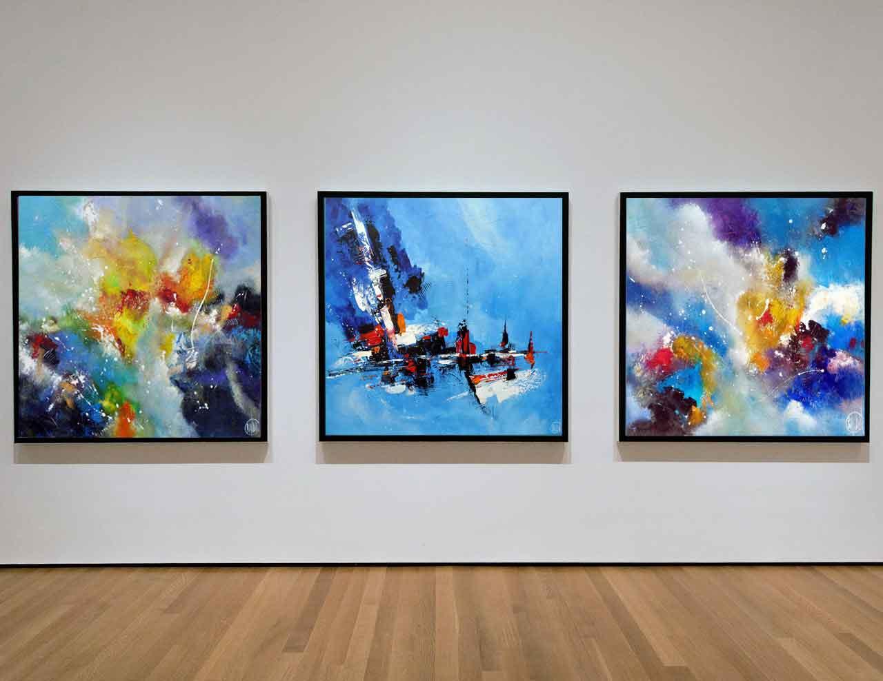3 tableaux réalisés par Christophe Baudin