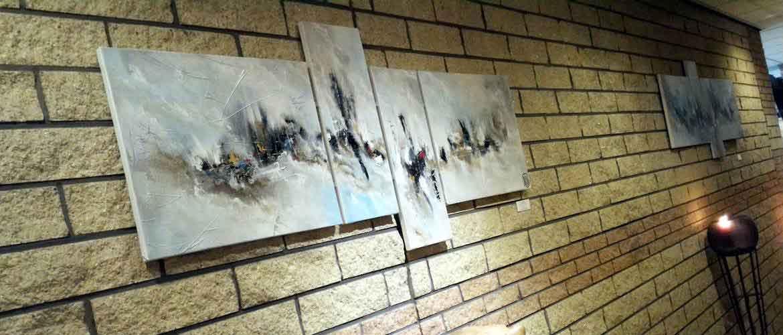 Quadriptyque - tableau en 4 parties design et contemporain par Christophe Baudin