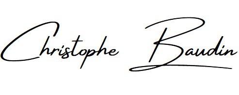 Signature de l'artiste peintre contemporain Christophe Baudin